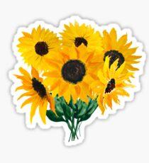Gemalter Sonnenblumenstrauß Sticker