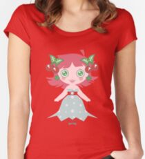 Cute Cherry Girl Women's Fitted Scoop T-Shirt