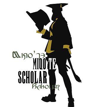 Miqo'te Scholar by quirkyquail