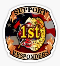 Support 1st Responders Decal Sticker