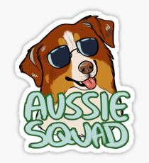 AUSSIE SQUAD (red tri) Sticker