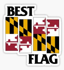 Best Flag, Black on White Sticker