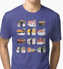 Nekozushi Tri-blend T-Shirt