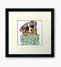 AUSSIE SQUAD (red merle) Framed Print