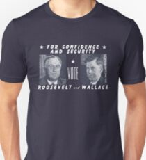 1940 Vote Roosevelt and Wallace Unisex T-Shirt