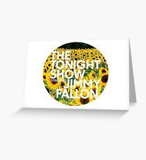 sunflower jimmy fallon Greeting Card