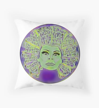 Madame Leota Throw Pillow