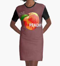 Just Peachy Graphic T-Shirt Dress