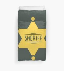 Sheriff  Duvet Cover