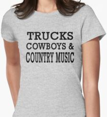 Trucks Cowboys And Country Music T-shirt T-Shirt