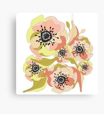 Abstract Elegance Seamless pattern. Floral background Canvas Print