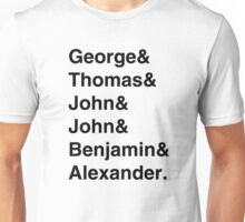 Founding Fathers (Hamilton included) Unisex T-Shirt