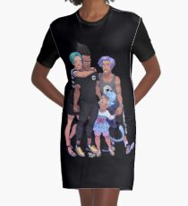 Underwear Family Graphic T-Shirt Dress