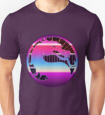80's Cyber Grid Mortal Kombat Logo Unisex T-Shirt
