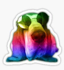 Psychedelic John Lennon Basset Hound Dog Sticker