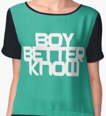 BBK Boy Better Know Chiffon Top