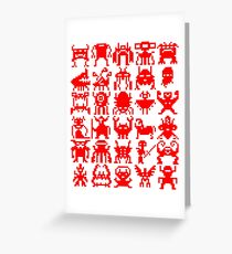 Warp Zone Creatures: Red Greeting Card