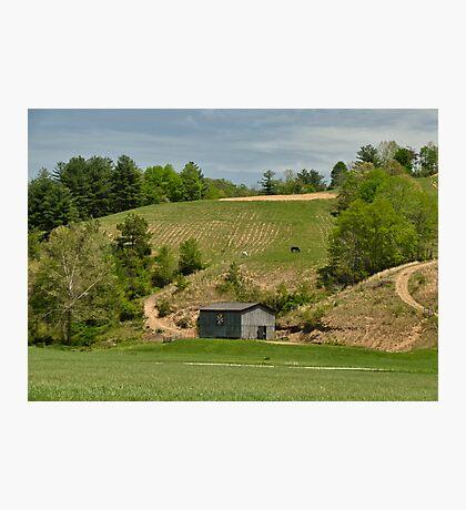 Kentucky Barn Quilt - Americana Star 2 Photographic Print