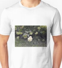 White flowers part of natural bush in the garden. Unisex T-Shirt