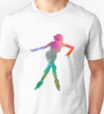 Woman in roller skates 08 in watercolor T-Shirt