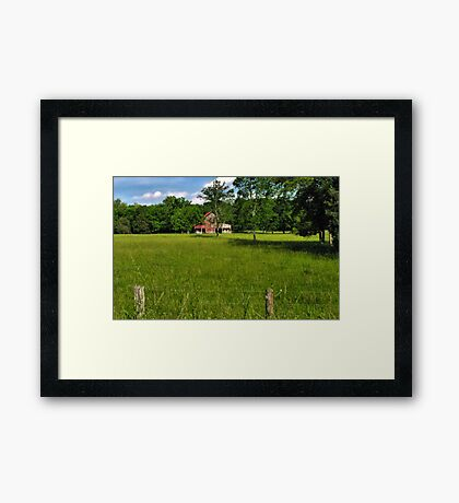 """""""Beyond the Fence line """"... prints and products Framed Print"""