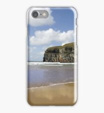 Atlantic waves on Ballybunion beach and cliffs iPhone Case/Skin