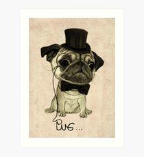 Pug; gentle pug. Art Print
