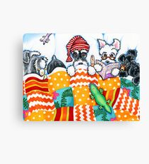 Schnauzers and Snoozes Canvas Print