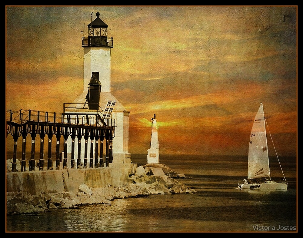 Sunset Sail by Victoria Jostes