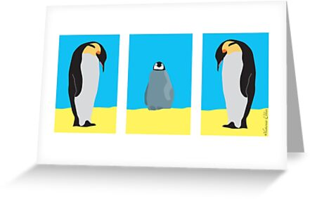 Penguin Family Together by Victoria Ellis