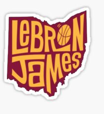 lebron the king james Sticker