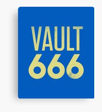 Vault 666 - The Most Metal Vault In All The Wasteland Canvas Print