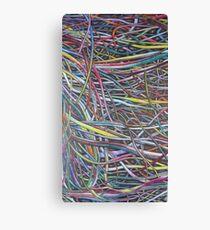 Multi-Colour Wire Art Canvas Print