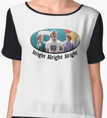 Wooderson (dazed & confused quote) - Alright Alright Alright Women's Chiffon Top