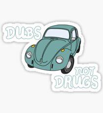 Dubs not Drugs - VW Beetle Sticker