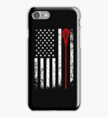 Lacrosse Stick - Lacrosse American Flag Shirt iPhone Case/Skin
