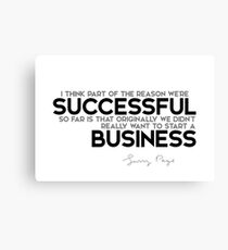 successful business - larry page Canvas Print