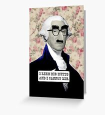 Washington got Back Greeting Card