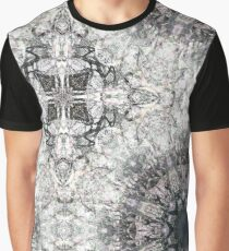 Dusty Pink and Grey Gothic Lacy Mandala Graphic T-Shirt