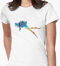 Man scuba diver 01 in watercolor Womens Fitted T-Shirt