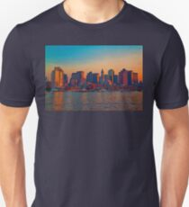 USA. Massachusetts. Boston. Downtown. Sunset. Unisex T-Shirt