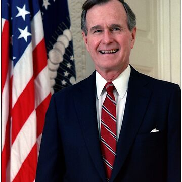George H.W. Bush USA President by ozziwar