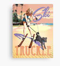 Ski Truckee! Metal Print