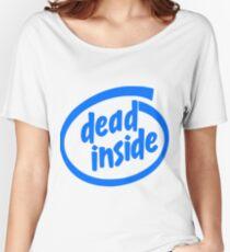 Camiseta ancha para mujer Dead Inside (Intel Inside)