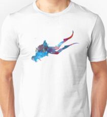 Man scuba diver 03 in watercolor Unisex T-Shirt