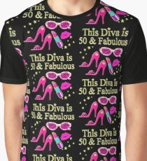 GORGEOUS AND CHIC 50 AND FABULOUS Graphic T-Shirt