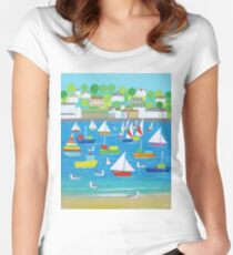 Salcombe Seagulls Women's Fitted Scoop T-Shirt