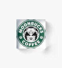 Moonbucks Coffee Acrylic Block