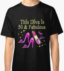 PURPLE SPARKLING FABULOUS 50TH DESIGN Classic T-Shirt