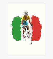 Maillot Jaune , Italy Flag Art Print